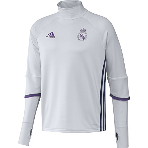 adidas Real Madrid CF TRG Sudadera, Hombre, Blanco / Morado, S