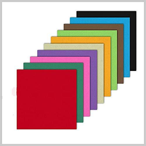 Quadratisch gefaltete Bunte handgeschöpftes Papierpapier Kindergeschenke handgemachtes Kunsthandwerk - Mehrfarbig, 2