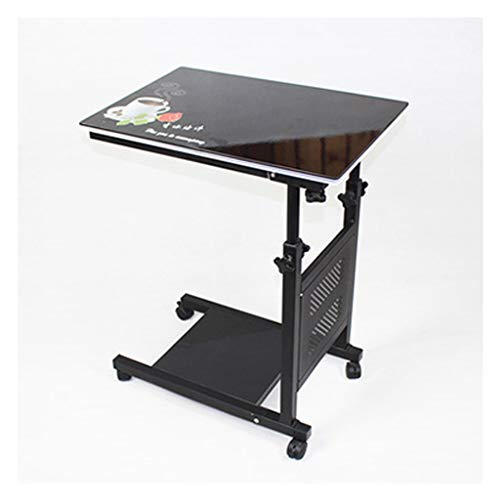RKRXDH Portable Folding Laptop Desk, Adjustable Laptop Bed Table,Standing Laptop Desk Book/Reading Holder For Writing In Sofa And Couch overbed table (Color : Black print)