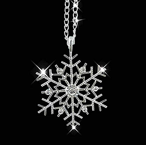 SHIERSHIYI Collar Frozen Snowflake Sparkling Rhinestone Collar Colgante Regalo