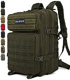 Doshwin 40L Taktischer Militär Rucksack Großer Armee Molle Assault Pack für Wandern Reisen Trekking Camping (Olive)