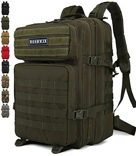 Doshwin 40L Mochila Táctica Militar Camuflaje Molle Assault Pack (Oliva)