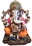 Lightahead The Blessing. A Multi Colored Statue of Lord Ganesh Ganpati Elephant Hindu God Made from Marble Powder in India
