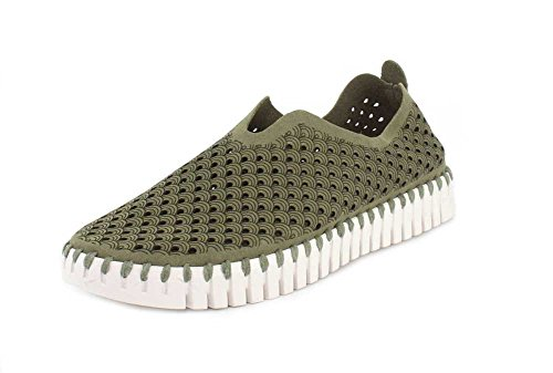 ILSE JACOBSEN Women's Sneakers & Athletic Shoes Flats, Laurel Green