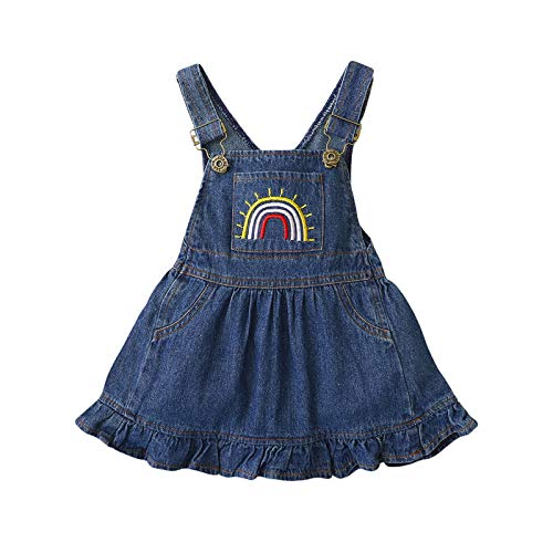 Newborn Baby Girl Rainbow Clothes Sleeveless Romper Bodysuit Jumpsuit One Piece Outfit Infant Summer Onesies (K-2, 6-12 Months)