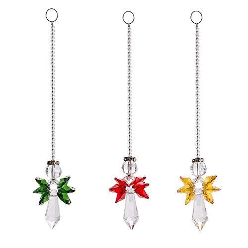 WeisiPU – Pingente de prisma de vidro colorido para pendurar na janela de Natal, presentes para mulheres