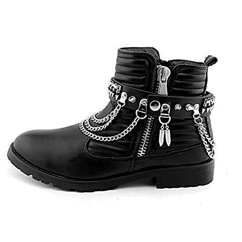 men Western Silver Boot Bracelet Chain Bullet Anklet Shoe Charm Hip Hop adjustable