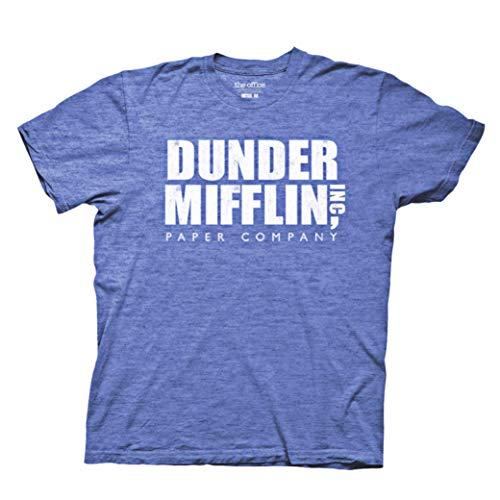 Ripple Junction Men's Vintage The Office Dunder Mifflin T-Shirt, Heather Royal Blue