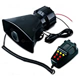 Car siren speaker can offer 5 loud and clear sounds, includes hooter, fire alarm, ambulance, traffic, police, etc High quality ABS-plastic housing + iron holder. Siren speaker can be installed in any vehicle with 12V DC Power This sound car siren is ...