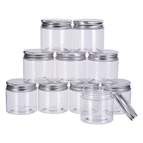BENECREAT 20 Pack 30ml Caja Plástica Transparente con Tapa de Aluminio de Rosca Almacenamiento de Té Pastilla Dulce y Pequeñas Cosas