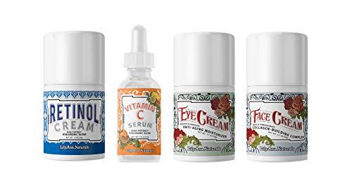 LilyAna Naturals Skincare Gift Set - Retinol Cream, Vitamin C Serum, Eye Cream and Face Cream Moisturizer- Unique Gift For...