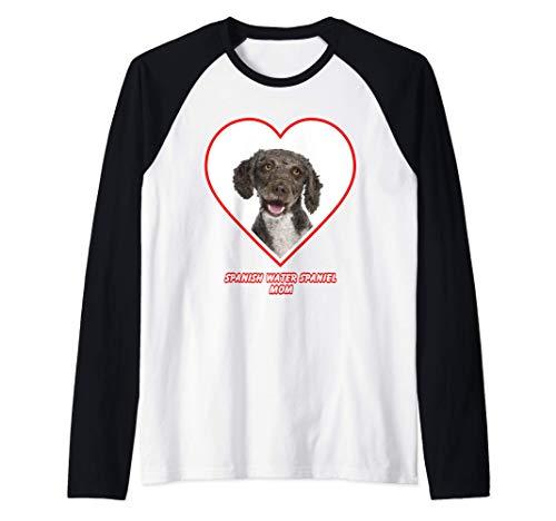 Spanish Water Spaniel Dog Mom Camiseta Manga Raglan
