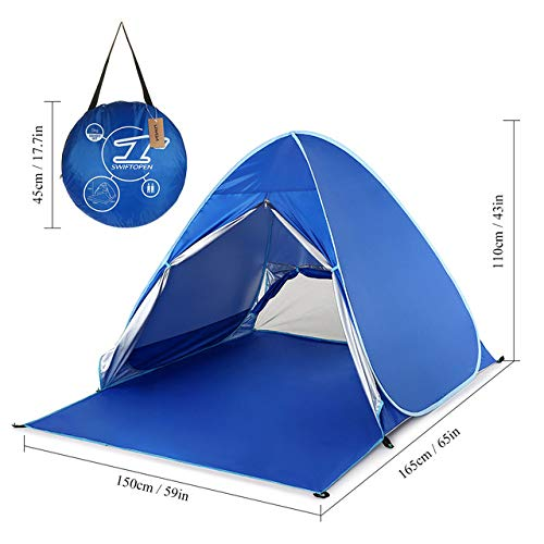 1-2 People Outdoor Beach Tent Pop-Up Pop-Up Camping Fishing Tent Portable Waterproof And Uv Protection