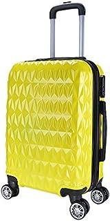Mala de Viagem Média 65x42x26 Em Abs C/Rodinhas 360º Amarelo