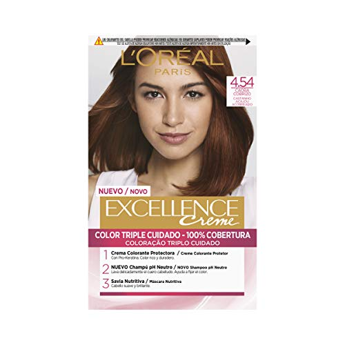 L'Oréal Paris Excellence Coloración Crème Triple Protección 4,54...