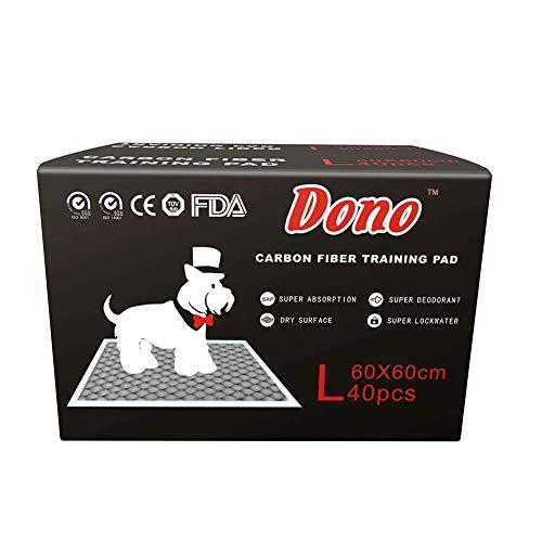 GBY Pet training pad, bamboe houtskool vezel verdikking deodorant hond pad, L code 60x60, lijm luiers, lekvrije vloer bescherming pad, geschikt voor kleine en middelgrote hond type