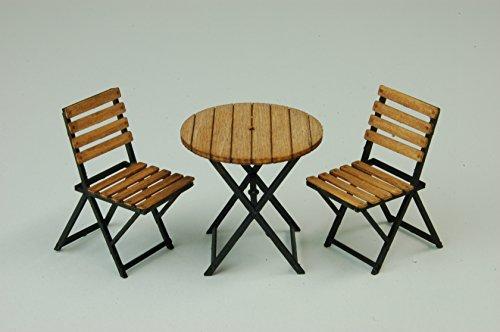 コバアニ模型工房 1/24 スウィートスタイルシリーズ アイアンガーデンテーブル&チェアー 組立キット SS-031