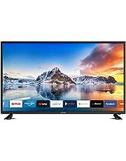 Dyon Smart 43 XT 43 cale Telewizor LED (Full-HD Smart TV, HD Triple Tuner DVB-C/-S2/-T2, Czarny)