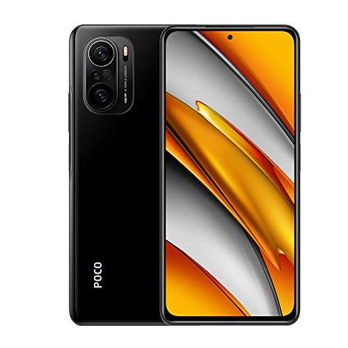 Xiaomi Poco F3 6+128GB Smartphone 5G,Qualcomm Snapdragon870 Procesador,DotDisplay AMOLED de 6,67 Pantalla,Cámara Triple de 48MP+8MP+5MP,con NFC SIM Dual Versión Global(Negro)