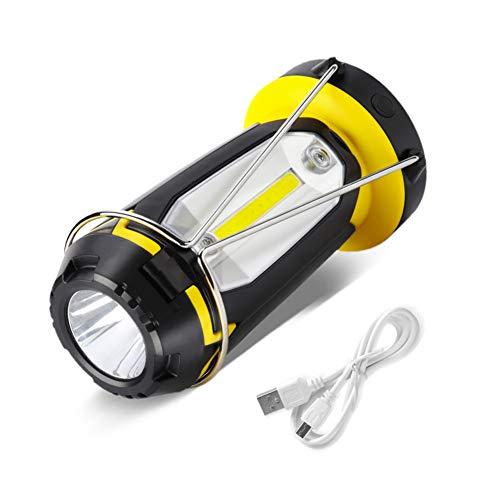 Kiids Oplaadbare USB-draagbare campinglamp, multifunctioneel, met 6 modi, comfortabel draagbaar, zaklamp, noodgevallen