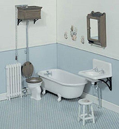 Dollhouse Miniature Victorian Bathroom Chrysnbon Kit