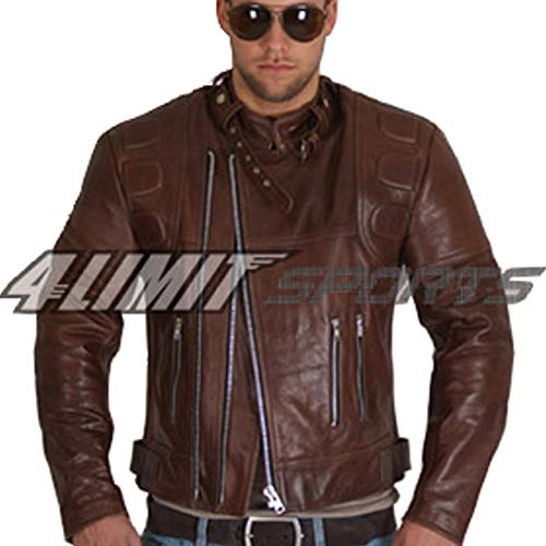 4LIMIT Sports Motorradjacke CRUISER retro oldschool Lederjacke brown