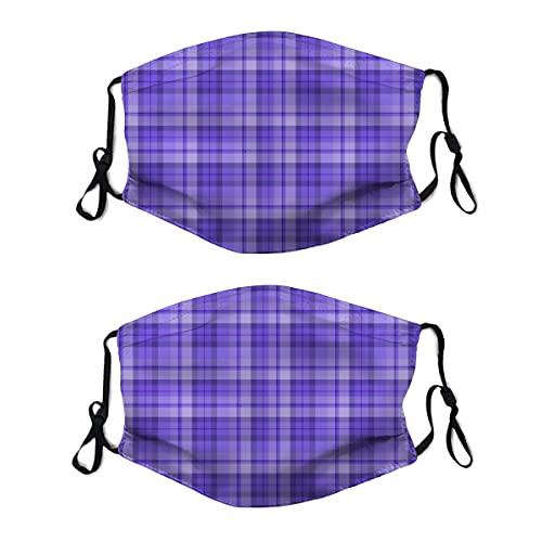 2 mascarillas de tela lavable con lazo ajustable para la oreja, color morado arándano, cubreboca, reutilizable y transpirable, pasamontañas para hombres y mujeres