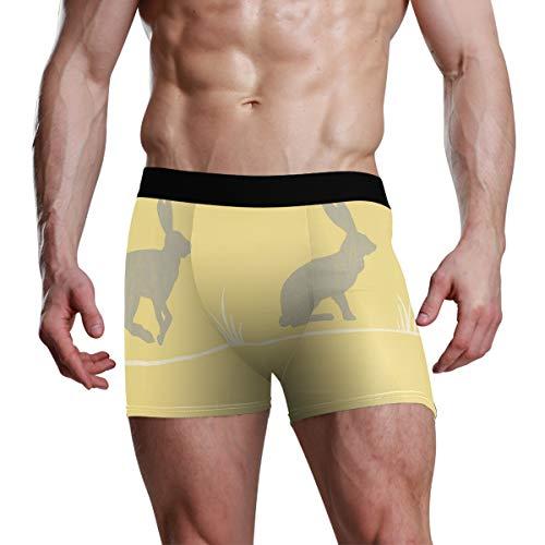 MONTOJ Farben Nell Senf Conversational Tapeten Herren Sport Inspiriert Boxershorts Stretch Trunks Gr. XL, 1