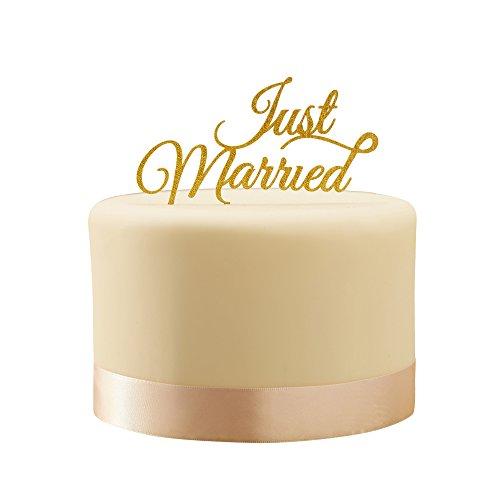 Ginger Ray Pastell Perfection Just Married, glitzernde Tortenaufsatz, Gold