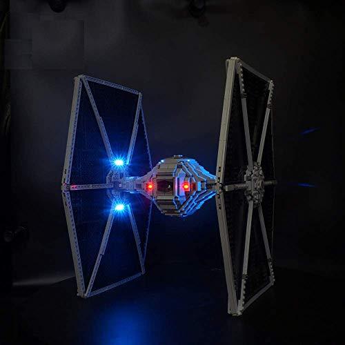 Axjzh Beleuchtung Lichtset für Lego Star Wars 75095 TIE Fighter, LED Beleuchtungsset Kompatibel mit Lego 75095 (Nicht Enthalten Lego Modell)