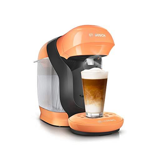 Bosch TAS1106 Tassimo Style Kapselmaschine, über 70 Getränke, vollautomatisch, geeignet für alle Tassen, kompakte Größe, 1400 W, peach