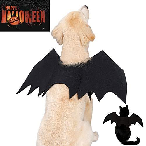 Halloween Pet Bat Wings Cat Dog Bat Hero Costume Pet Cat Bat Wings for Halloween Party Cosplay Decoration for Cat Dogs Puppy Bat Dress Up Spooky Scary Party Favor (Medium)