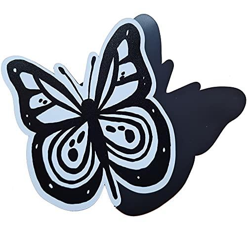 FlyEx Magnete anstatt Aufkleber Sticker für Fliegengitter Insektenschutz Reparatur-Set Vogelschlag Netze Türen Fenster Schiebetüren Spannrahmen (Schmetterling)