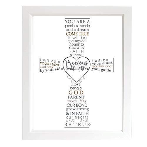 소중한 대녀 유품 프레임-침례 또는 세례식을위한 대부모의 대녀를위한 선물