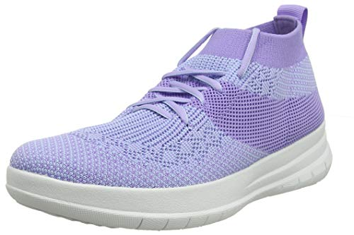 FitFlop Women's Hi-Top Trainers, Purple Frosted Lavender Mix 669, 39