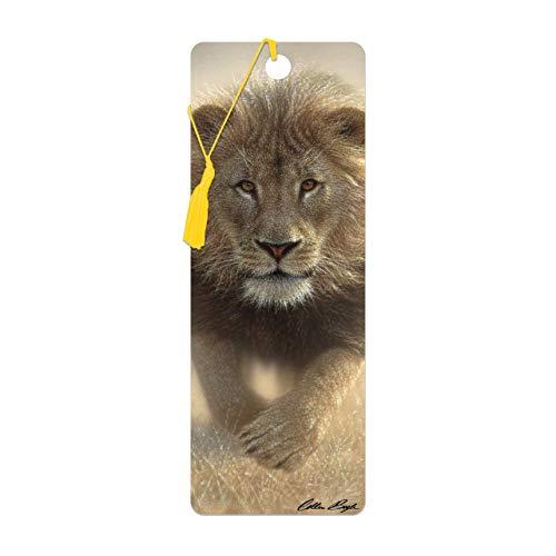 3D LiveLife-Lesezeichen - Fress meinen Staub von Deluxebase Ein Löwe-Lesezeichen mit linsenförmigen 3D-Grafiken, die vom renommierten Künstler Collin Bogle lizenziert wurden