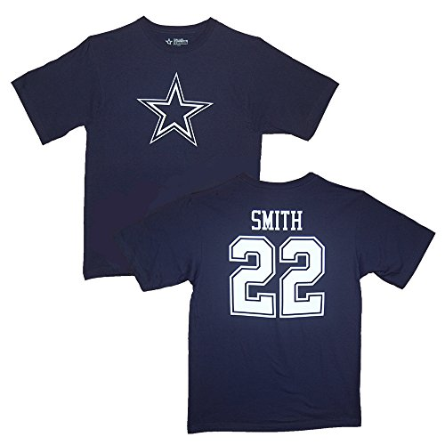 NFL Football T-Shirt Dallas Cowboys Emmitt Smith #28 Trikot Jersey Blue Legends (XL)