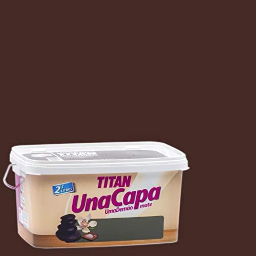 Titan 69631226 - Pintura plástica mate CHOCOLATE Titan UNA CAPA