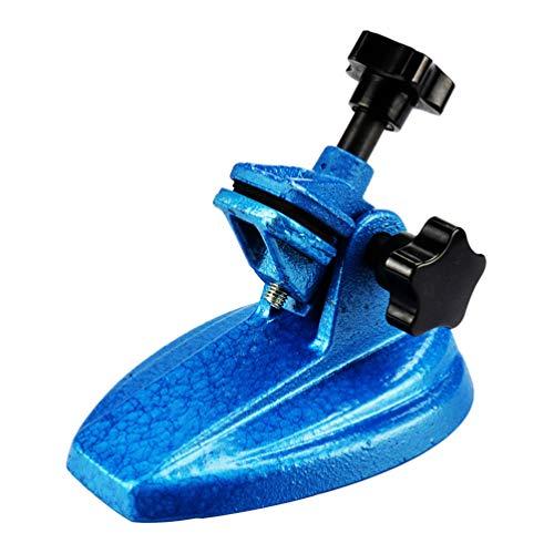 iplusmile - Soporte para micrómetro de tres puntos, base para calibrador y micrómetro (azul)