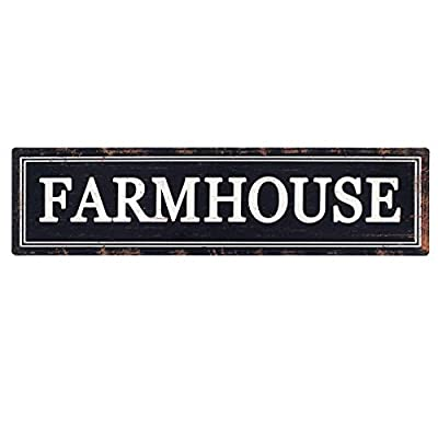 Rustic Black Metal Farmhouse Sign Decorative Wall Hanging Sign 16.1×4.2 in