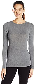 Cuddl Duds Women's Softwear with Stretch Long Sleeve Crew Neck Top