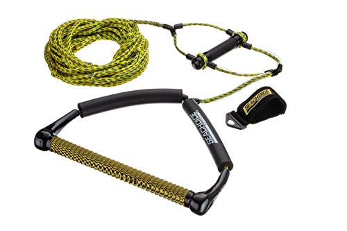 Seachoice Seachoice 86723 4-Section Wakeboard Rope, 70 Feet Long, 15 Inch Handle with Textured EVA Grip, 6 Inch Trick Handle
