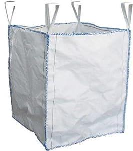 Bolso Grande Tamaño 90x90x160 cm Certificado 1 Tonelada Bolsa 1000Kg Sacos Multiusos Cuatro Bucles FIBC Granel Jumbo Reciclar Almacenamiento Jardín Residuos Big-Bag Presillas Asas