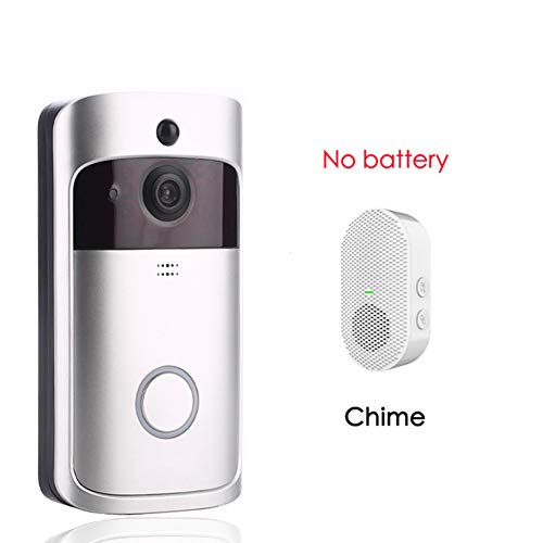 Wifi Deurbel Camera Beveiliging Slimme Video Deurbel Camera Met 2-Weg Audio, Visuele Intercom Met Gong Nachtzicht Ip Deurbel Draadloze Camera Voor Thuisbeveiliging,No battery