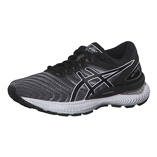 Asics Womens Gel-Nimbus 22 Running Shoe, White/Black, 39.5 EU
