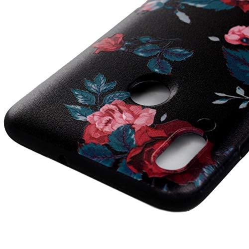 Vogu'SaNa Handyhülle Kompatible mit Huawei P smart 2019 Hülle Silikon Honor 10 lite Case Cover Malen Muster Tasche Dünn Schutzhülle Handytasche Skin Softcase Schale Bumper TPU Handycover-Rose - 5