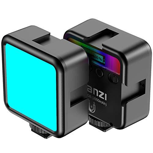 Oferta de RGB Led Video Light Mini Cámara Vlog Luz Portátil 2000 mAh Recargable LED en la Cámara Luz para Fotografía Videocámara Tiro Bi Color 2500-9000K CRI95+
