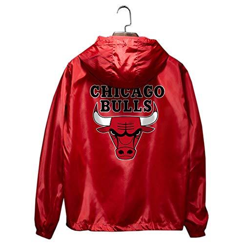 Stier Basketball Windjacke Jacke Mantel Kleidung männlich