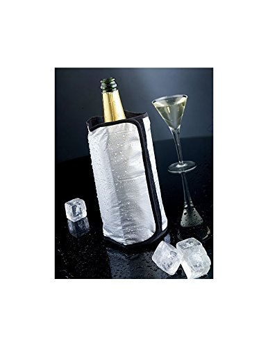 Brandani 60496 Rinfrescatore Bottiglia 15,5 x 23,5 x 3 cm, Argento