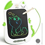KingsDragon LCD Writing Tablet Drawing Doodle Board, Colorful Toddler Doodle Board Drawing Tablet, Erasable Reusable Electronic Drawing Pads, Educational and Learning Toy for Boys Girls(BluGreene)